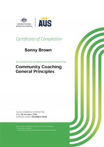 Community Coaching General Principles