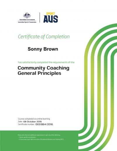 Community Coaching General Principles