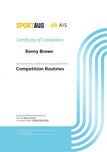 Competition Routines